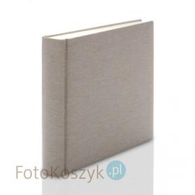 Album introligatorski ER Hand jasne płótno XXL czarny pergamin (tradycyjny, 100 kremowych stron)