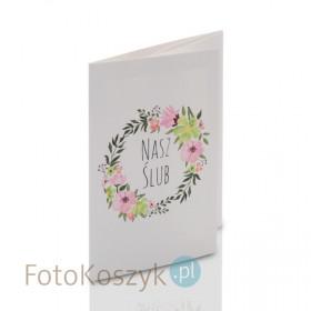 Mini-Album TS Nasz Ślub kwiaty na cztery zdjęcia 15x21