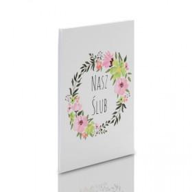 Album TS Leporello 15x23 Nasz Ślub kwiaty (5 czarnych kart)